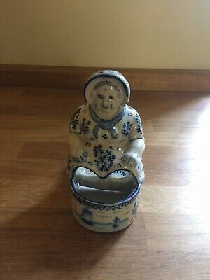 Delft Salt And Pepper Container In The Form Of A Seated Lady • 22£