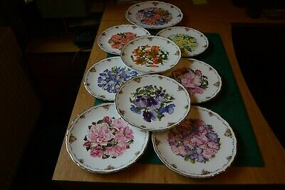 Set Of 9  Bone China Royal Albert Collectors Plates By Sara Anne Schofield • 42£