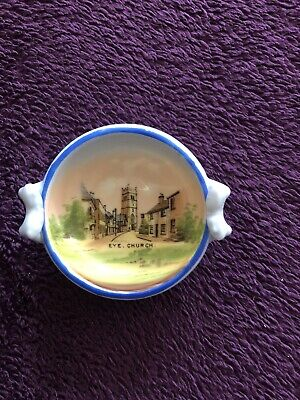 Vintage Gemma Small Dish With Picture Of Eye Church • 8£