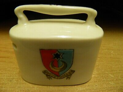 Crested Southsea Savings Bank Money Box With Handle British Manufacture  • 3£