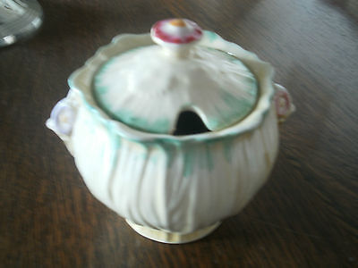 Crown Ducal Sugar Bowl With Lid • 5£