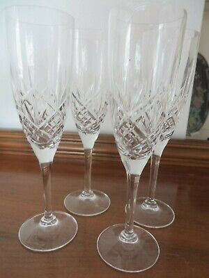 Marks And Spencer Crystal Champagne Flutes X 4 • 5£