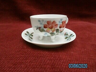 Vintage Small Bone China Decorated Cup And Saucer. • 4.50£