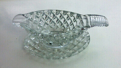 Antique Glass Sauce Boat With Suacer. • 20£