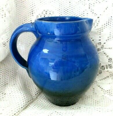 Antique Brannam Barnstaple Devon Blue To Green Glaze Jug Liberty? • 25£