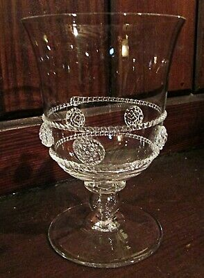 1 JULISKA Tulip Footed Water Goblet Glass ISABELLA 14cm Hand Blown Bohemian Art  • 40£