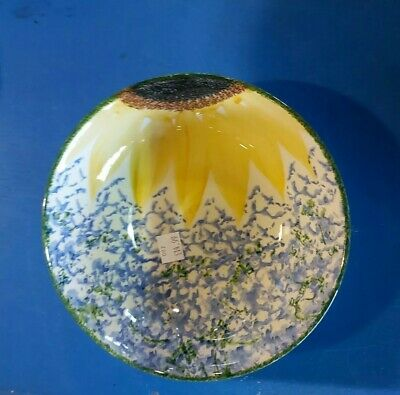 STUDIO POOLE   Vincent  Sunflower Bowl 7 Inches   DISCOUNTS AVAILABLE  • 14.99£