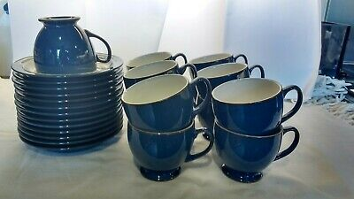 Denby Boston Blue Tea Cups And Saucers • 4.50£