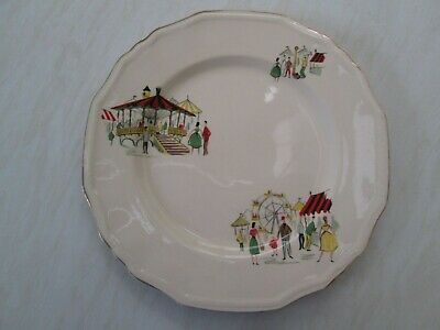 Alfred Meakin Large Dinner Plate In The Carousel Fairground Design  • 7.50£