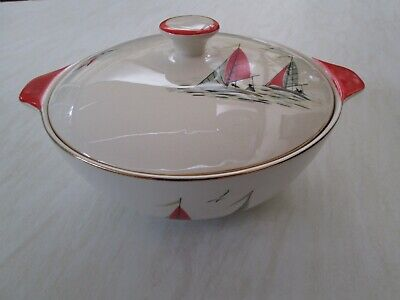Alfred Meakin Lidded Tureen In The Red Sails Yachting Design  • 19.50£