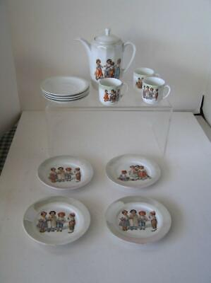 Antique Victorian Child's German Transfer Cup Tea Set Made In Germany 13 Pieces • 265.03£