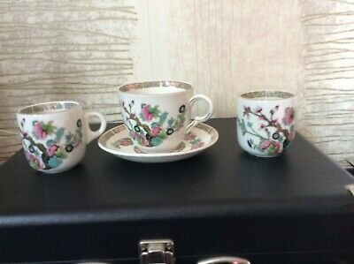 Maddock Fine China Indian Tree Design Cup & Saucer ++ 2 Minature Cups • 9.99£