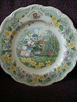 Royal Doulton England Brambly Hedge 8ins  Plate  The Outing 1st Quality • 25.99£