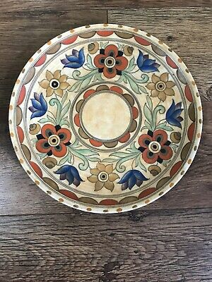 Charlotte Rhead Charger Plate, 13  Crown Ducal 'Mexican' Pattern 6189 Signed • 60£