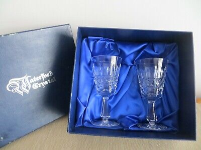 Waterford Crystal Stemmed Glasses X 2 (Boxed) • 9.99£