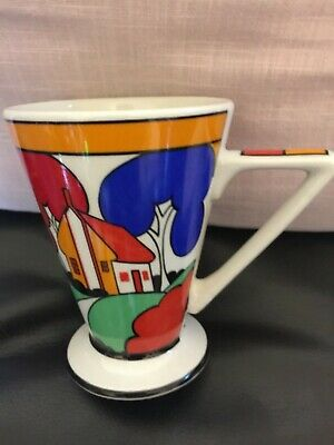 Drinking Mug ( Beaker) Copy Of A Clarice Cliff Design In Bright Colours .  • 2£