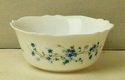 Frilled  Fruit Bowl By Arcopal In Forget Me Not Design. • 5£
