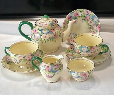 Crown.staffordshire Vintage 9 Piece Tea For Two Set • 10.50£