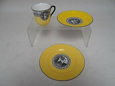 Rare Shelley Trio (Cup,Saucer,Plate) 1925 Cameo Dancing - Excellent Condition(A) • 24.99£