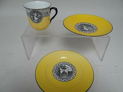 Rare Shelley Trio (Cup,Saucer,Plate) 1925 Cameo Dancing - Excellent Condition(B) • 24.99£