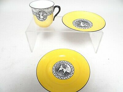 Rare Shelley Trio (Cup,Saucer,Plate) 1925 Cameo Dancing - Very Good Condition(B) • 21£