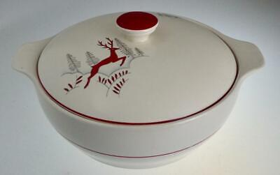 CROWN DEVON STOCKHOLM PAT. 1930s TUREEN WITH LID LEAPING  GAZELLE • 38£