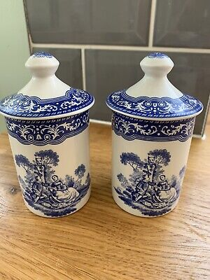 SPODE Blue Room  Collection - Two Spice Jars • 4£