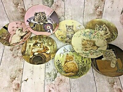 Collection Of 8 Royal Worcester Crown Ware England Kitten Classics Plates 1985 • 31£
