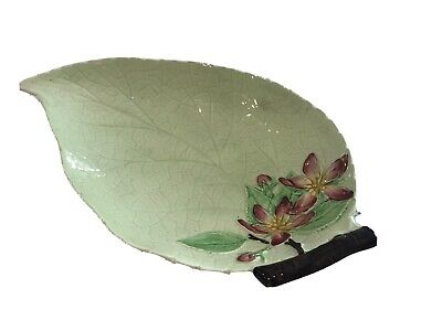 Carlton Ware Leaf Dish With Blossom Design Used, Excellent Condition • 1.80£