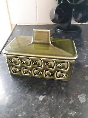 Withernsea Green Pottery Butter Dish 1960,s • 14.50£