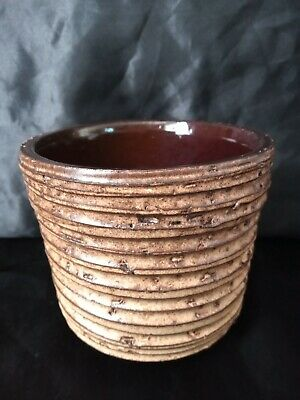 Very Nice Rustic Studio Pottery Vase/pot Ripple Effect UK Sell Only • 5£
