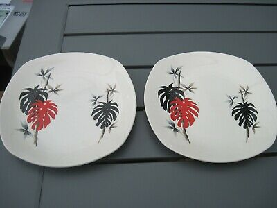 MIDWINTER SIDE PLATE X 2. CHEESE PLANT • 9.99£