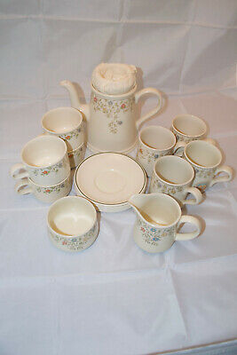 BHS Country Garland Pattern Coffee Set • 40£