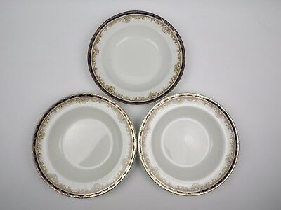 3 X BOOTHS SILICON CHINA ROYAL BORDER PATTERN SOUP PLATES/SERVING DISHES 10.5  • 15£