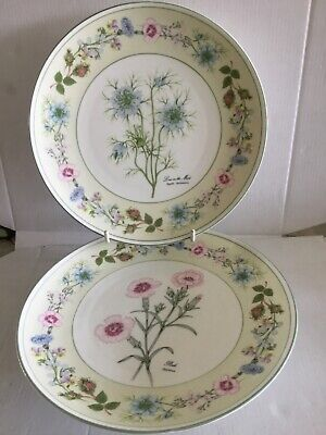 """2 Aynsley Flowers From The Garden Of Old England """"plates"""" • 12£"""