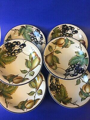 Staffordshire Autumn Fayre Cereal Bowls X 6 Good Condition Strong Colours • 26.95£