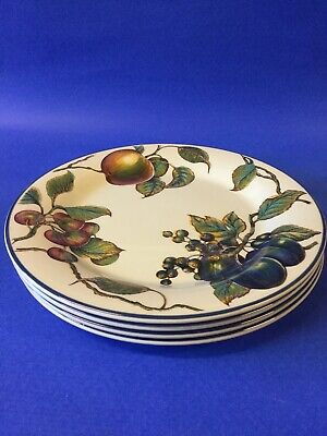 STAFFORDSHIRE AUTUMN FAYRE 10 1/4  DINNER PLATES X 4 Pier 1 Backstamp • 32.95£