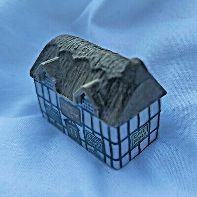 WADE Collectable 80s Miniature Village House Cottage Whimsey - Why Knot Inn No.5 • 22.50£