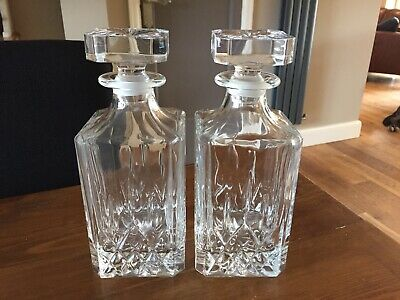 Pair Of Cut Glass Decanters • 24.99£
