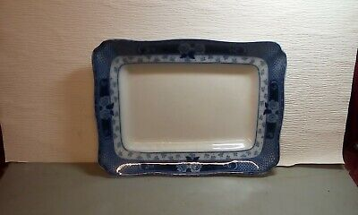 Antique Meat Dish / Plate Blue And White  • 19.99£
