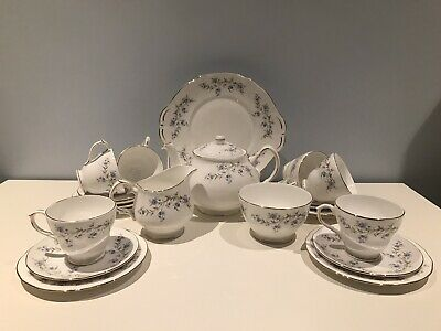 Duchess China Tranquility 22pc Tea-Set. Never Been Used. Ex.Cond. • 75£