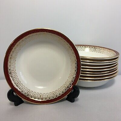 "Royal Grafton - Majestic Red 10x 5.5"" Cereal / Dessert Bowls Excellent Condition • 32.99£"
