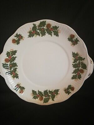Queens Yuletide Christmas Cake Plate • 15£