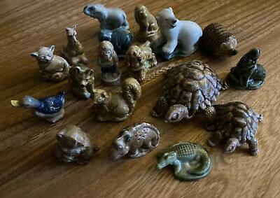 18 WADE Whimsies Figures: Polar Bear Hedgehog Tortoises Seal Kitten Dog Dinosaur • 3£