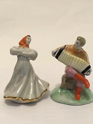 Pair Of Figures Russian Porcelain • 15£