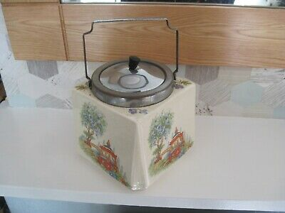 MIDWINTER BUSCUIT CANISTER . 1930's • 15£