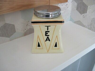 MIDWINTER TEA CADDY. 1930's • 16£