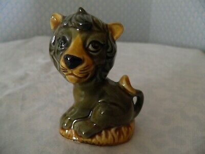 Szeiler Studio Made In England Green Lion Sitting 178 • 5£
