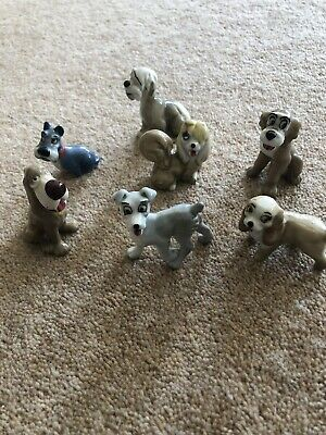 Set Of 7 Vintage Collectable Lady And The Tramp Whimsies 1960s • 29.99£