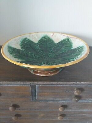 George Jones Antique Majollica Pedestal Dish.early Example Cartouch Back Stamp.. • 99.99£